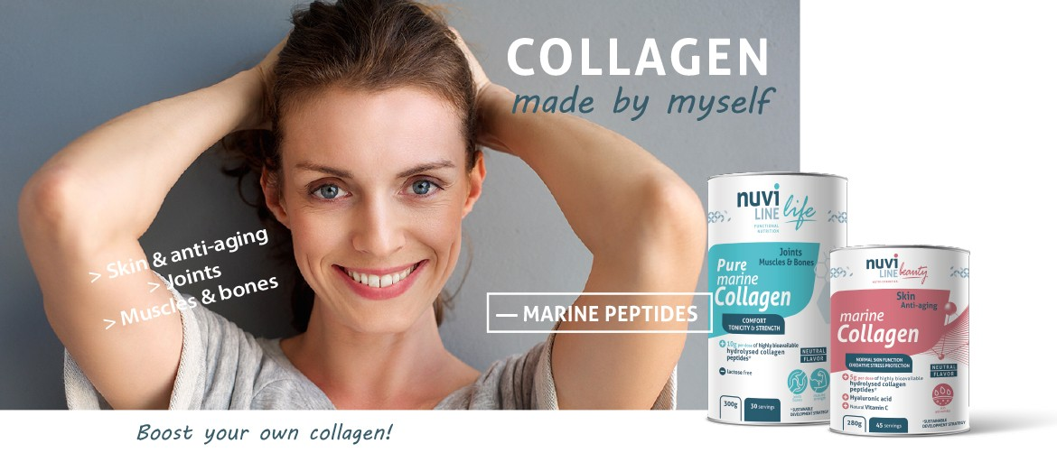 collagen marine peptides nuviline joints skin muscles bones